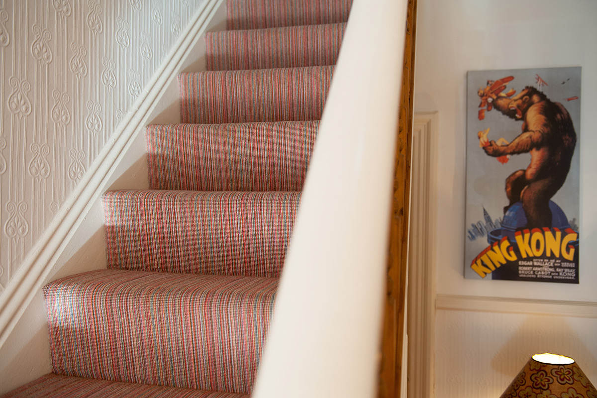 Case Study 01 Bright Finely Striped Stairs Amp Landing